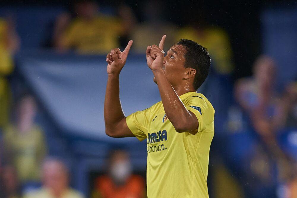 Carlos Bacca, celebra Villarreal