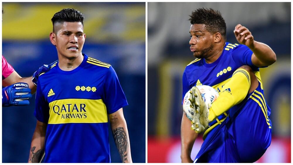 Jorman Campuzano y Frank Fabra, en Boca Juniors