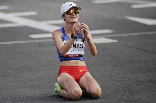 Sandra Lorena Arenas, en los Juegos Olímpicos de Tokio