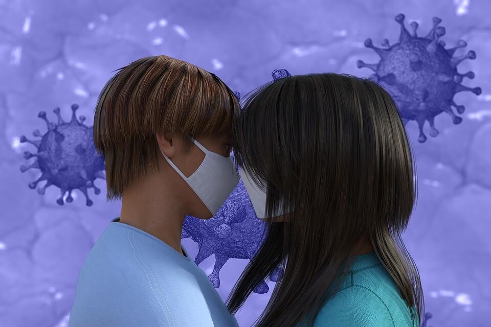 pareja coronavirus