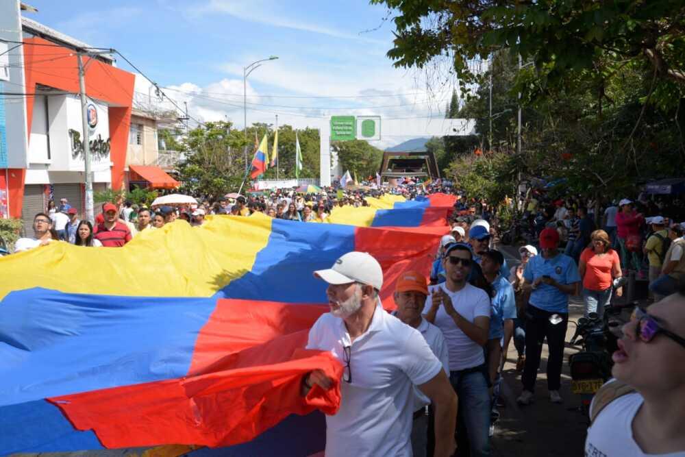 345541_BLU Radio. Foto marchas UIS / Foto: suministrada