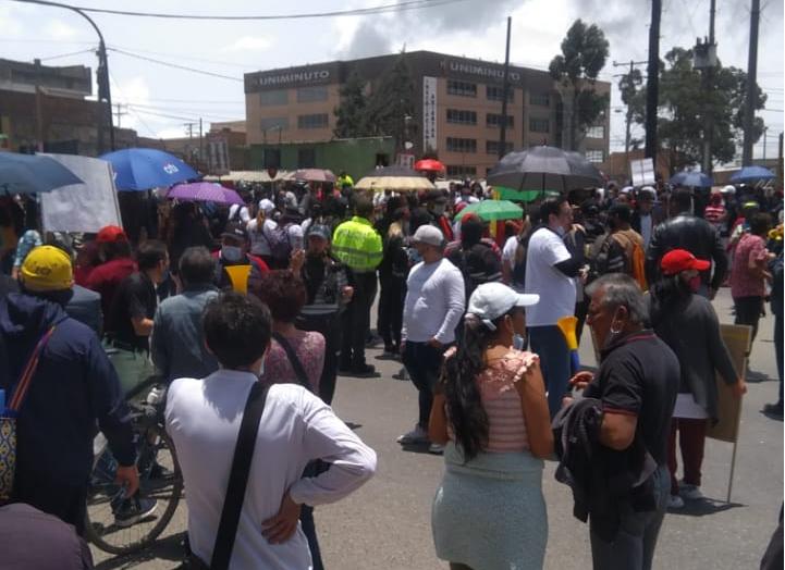 Protestas en Soacha por aumento en impuesto predial