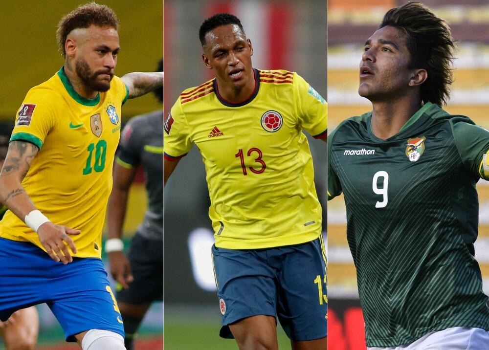 Selección de Brasil Colombia y Bolivia Foto AFP.jpg