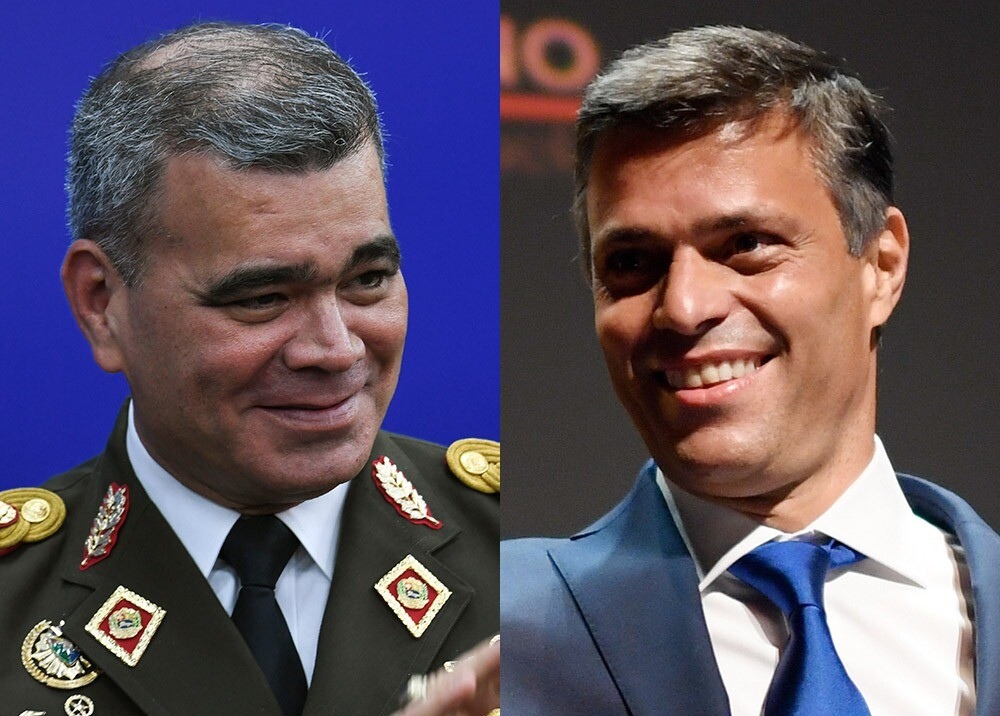 General Vladimir Padrino y Leopoldo López : Fotos AFP.jpeg