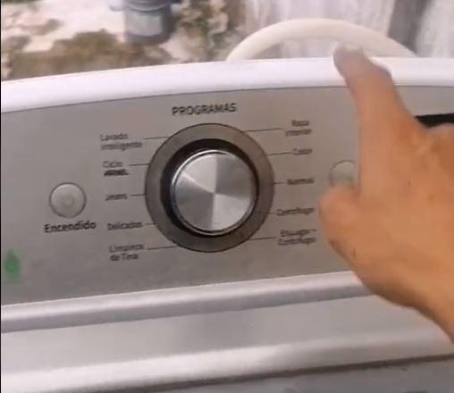 Técnico encontró un nido de ratas al interior de una lavadora