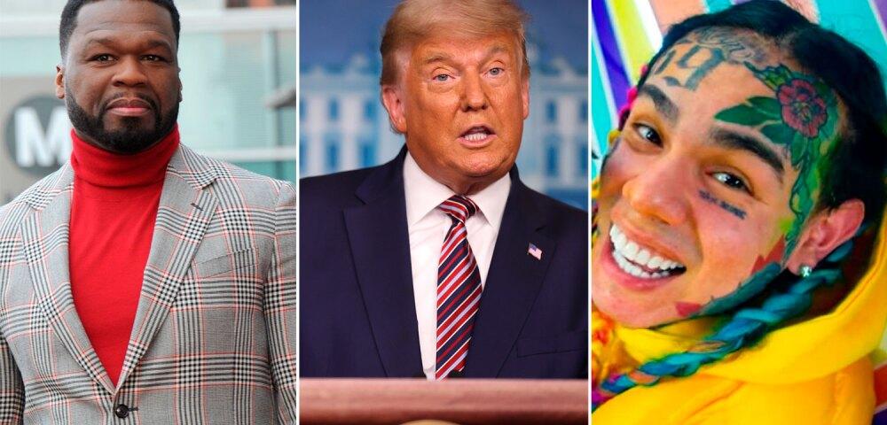 649020_Foto 50 Cent: Albert L. Ortega/Getty Images. Foto Trump: Chip Somodevilla/Getty Images.