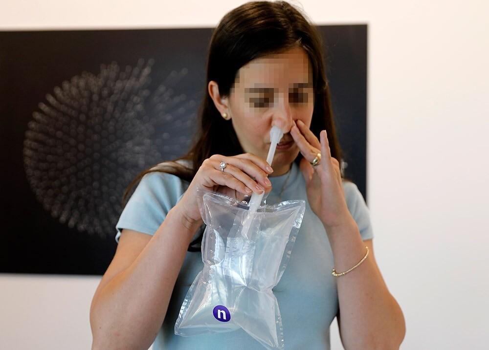 372108_Prueba de detección de COVID-19 de NanoScent // Foto: AFP