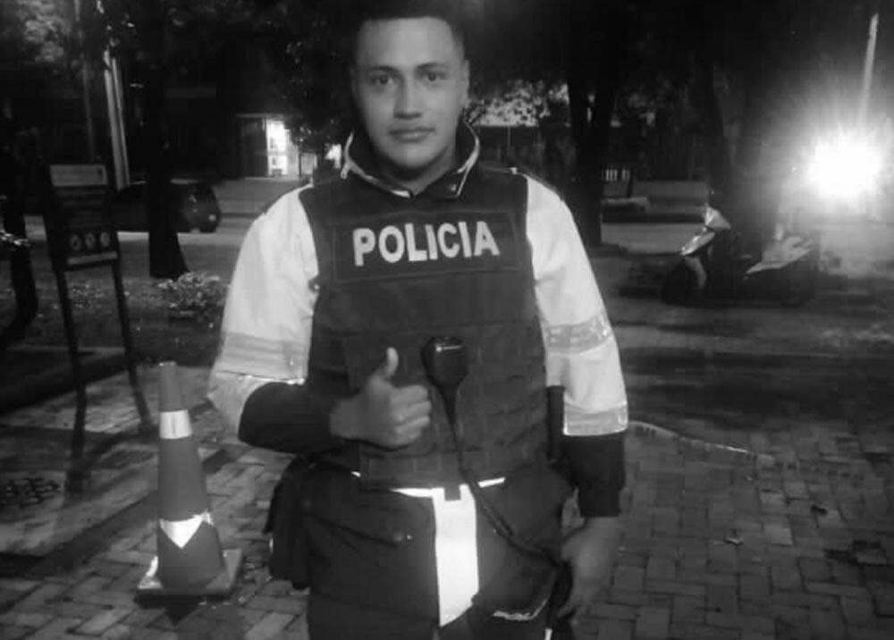 Edwin Caro, patrullero asesinado en balacera en Bogotá. Foto: Policía