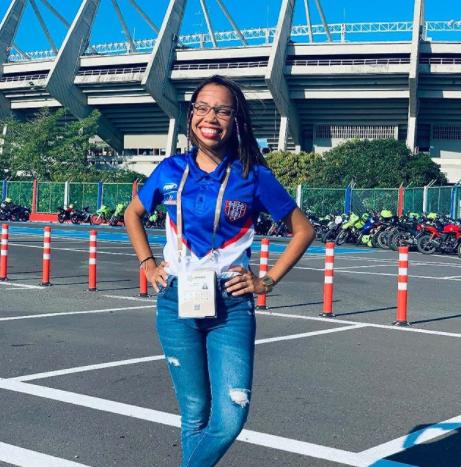 Janelys Briceño Pardo, jefe de prensa de Unión Magdalena..PNG