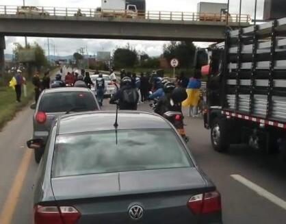 Bloqueo en Mosquera 26 de mayo