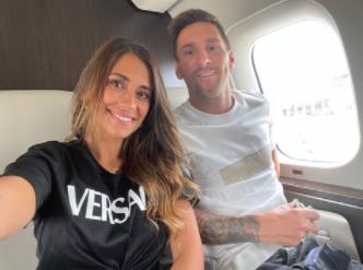 Lionel Messi y su esposa Antonela Roccuzzo. @antonelaroccuzzo.PNG