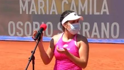 María Camila Osorio fue semifinalista del WTA 250 de Belgrado.